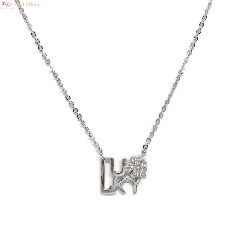Zilveren Lucky collier-1