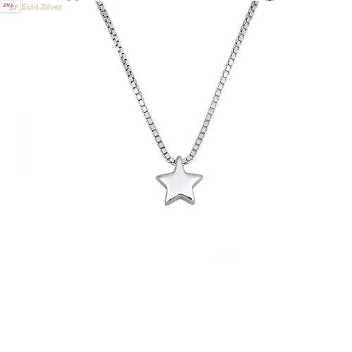ZilverVoorJou Zilveren collier silver star, ster