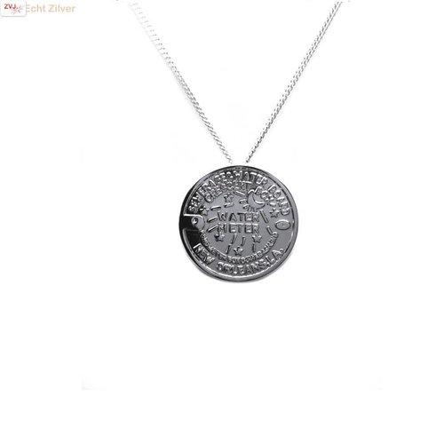 ZilverVoorJou Zilveren Water Meter New Orleans coin kettinghanger