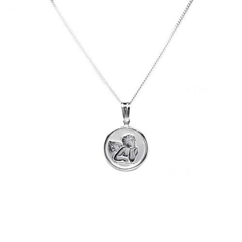 ZilverVoorJou Zilveren angel coin kettinghanger
