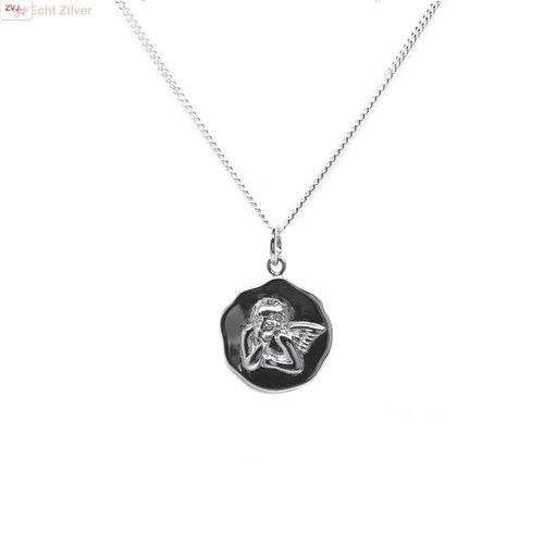 ZilverVoorJou Zilveren beschermengel collier