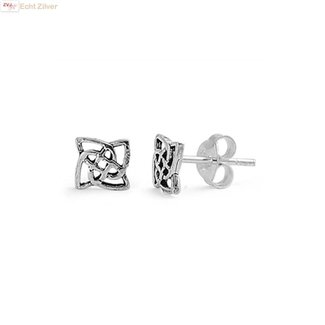 ZilverVoorJou Zilveren keltische mini oorstekers