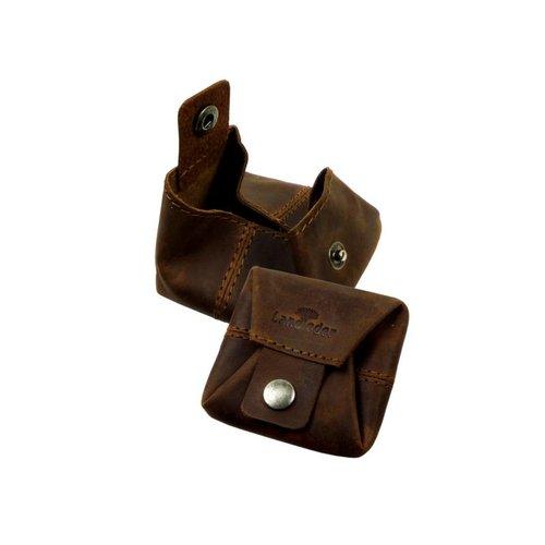 Landleder Landleder bruin leren mini box portemonnee