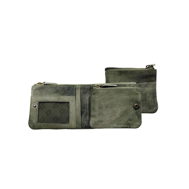 LandLeder groen geitenleren multiwallet portemonnee-1