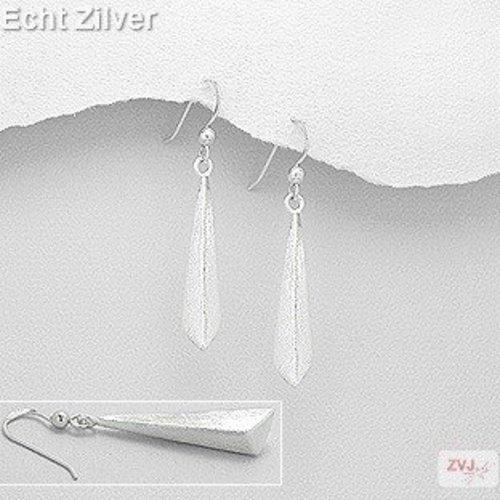 ZilverVoorJou Mat zilveren strakke oorhangers