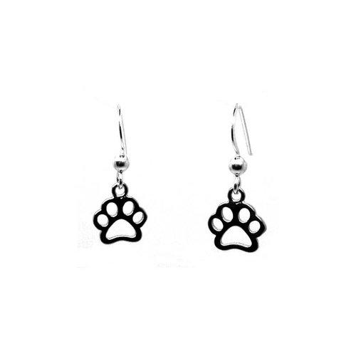 ZilverVoorJou Zilveren honden katten pootjes oorhangers