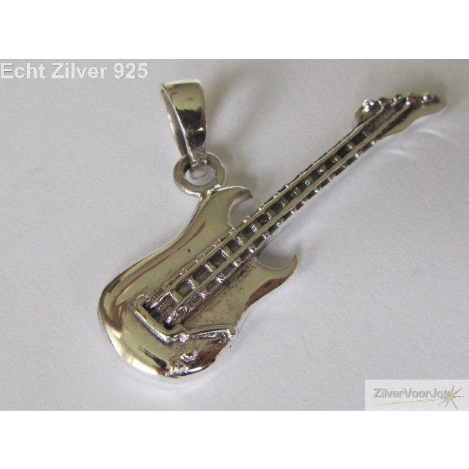 Zilveren 925 elektrische gitaar kettinghanger