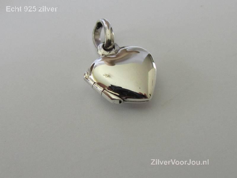 Zilveren klein hart medaillon-2