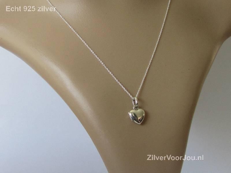 Zilveren klein hart medaillon-3