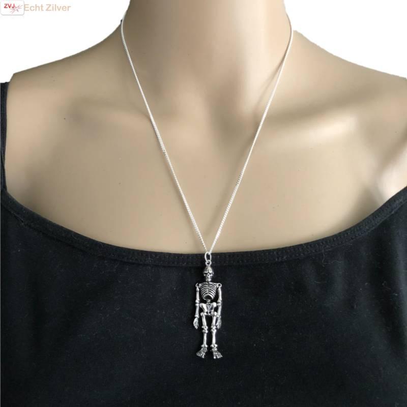 Zilveren skelet hanger-2