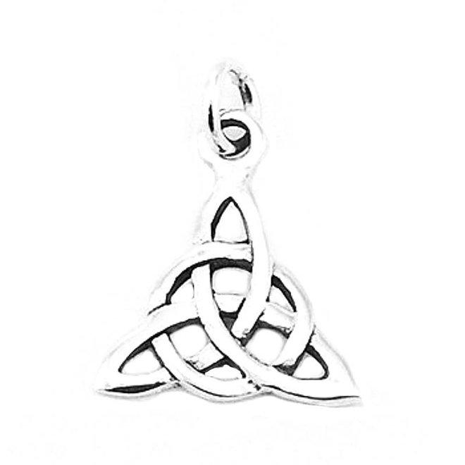 Zilveren  keltische knoop kettinghangertje