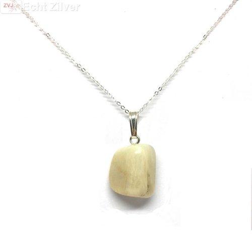 ZilverVoorJou Zilveren maansteen kettinghanger