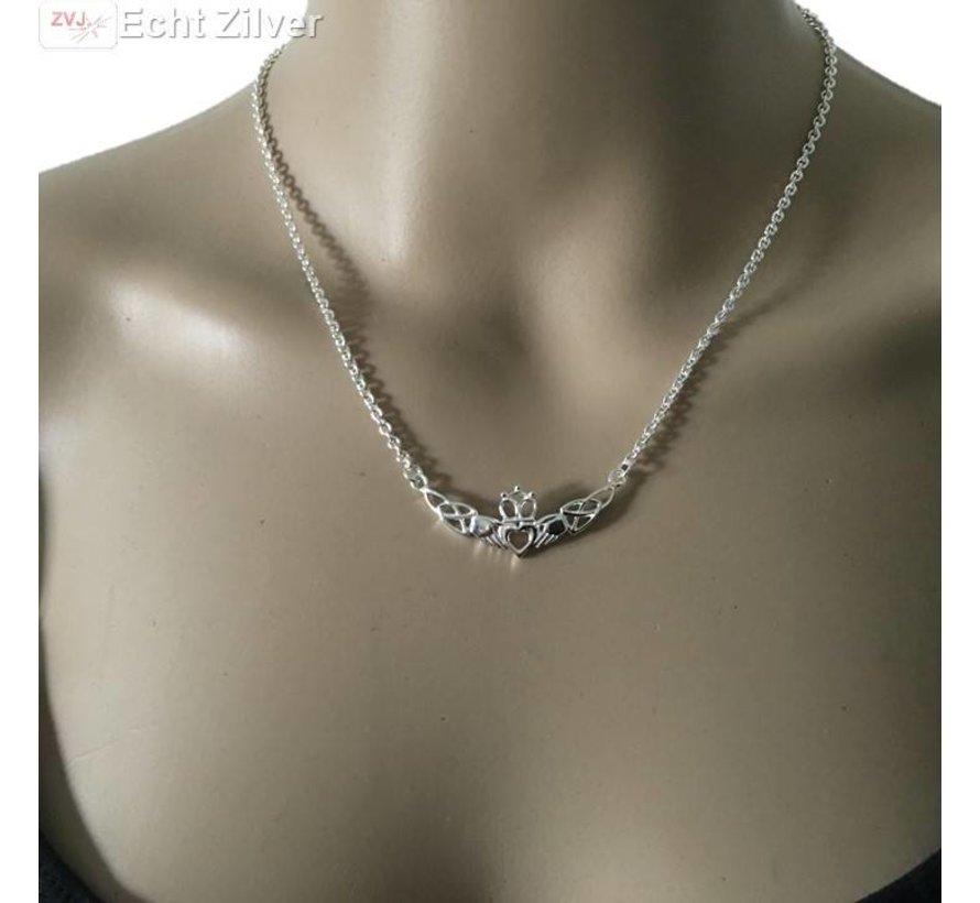 Zilveren Claddagh collier