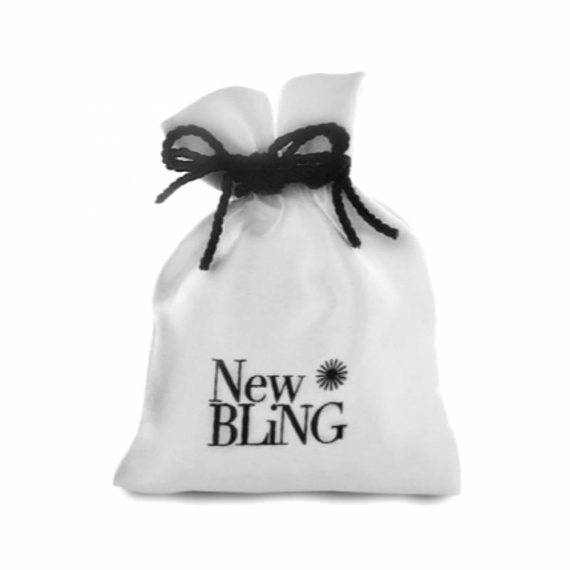 Zilveren Collier zoetwaterparel zwart rhodium New Bling-5