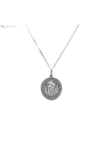 Zilveren saint Christopher coin kettinghanger