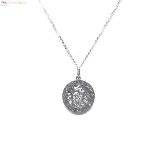 ZilverVoorJou Zilveren saint Christopher coin kettinghanger