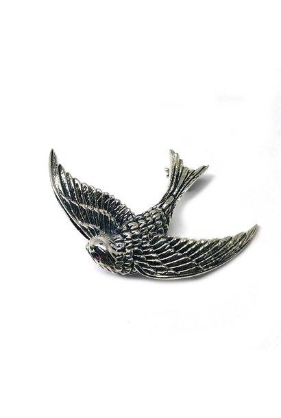 Zilveren broche adelaar vogel