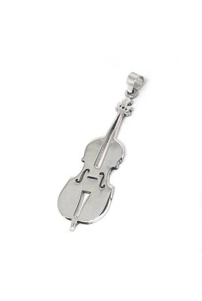 Zilveren viool kettinghanger