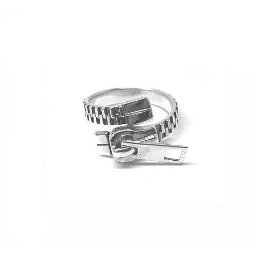 ZilverVoorJou Zilveren rits ring verstelbaar