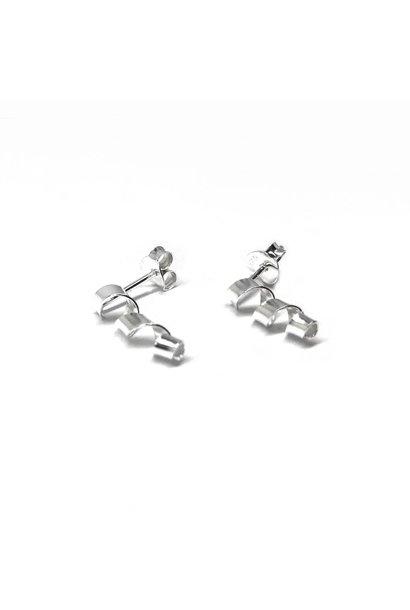 Zilveren kleine spiraal oorbellen