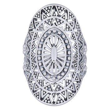 Zilveren mandala zon ring-2