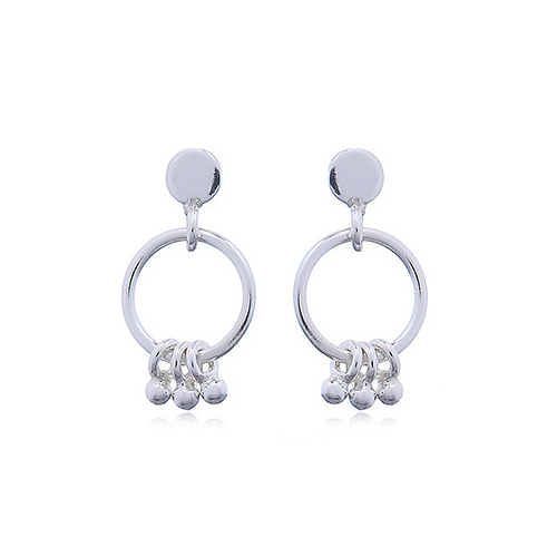Zilveren oorstekers met ringetjes en kleine balletjes-4