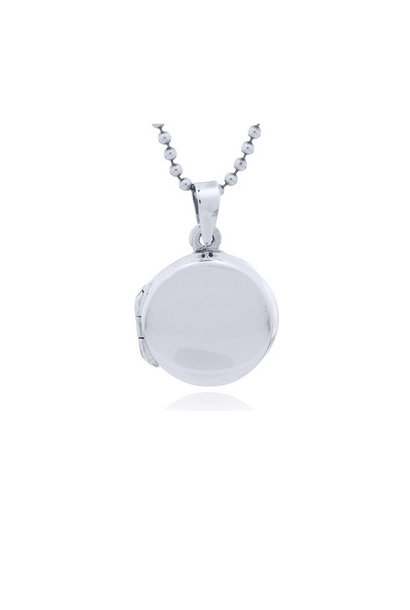 Zilveren medaillon rond kettinghanger