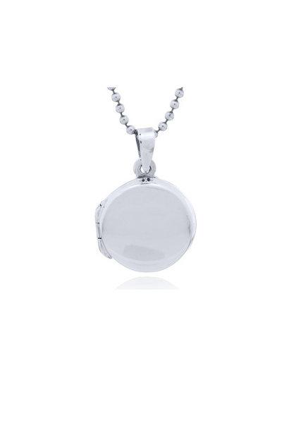 Zilveren medaillon rond kettinhanger