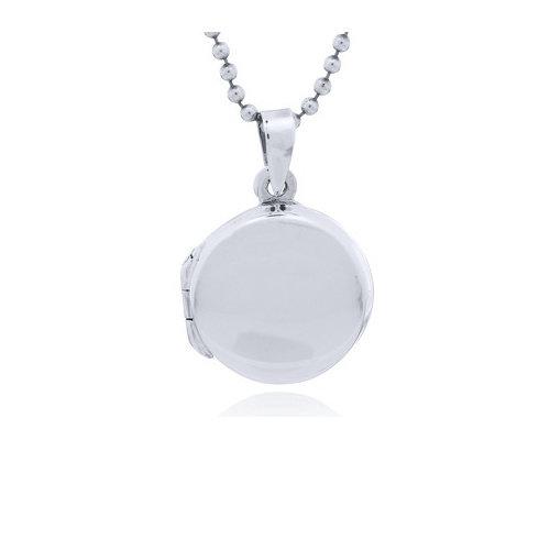 ZilverVoorJou Zilveren medaillon rond kettinhanger