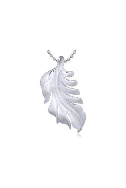 Zilveren eikenblad kettinghanger