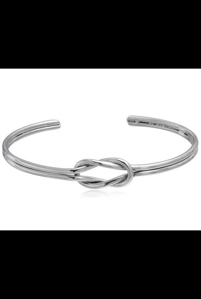 Zilveren knoop armband