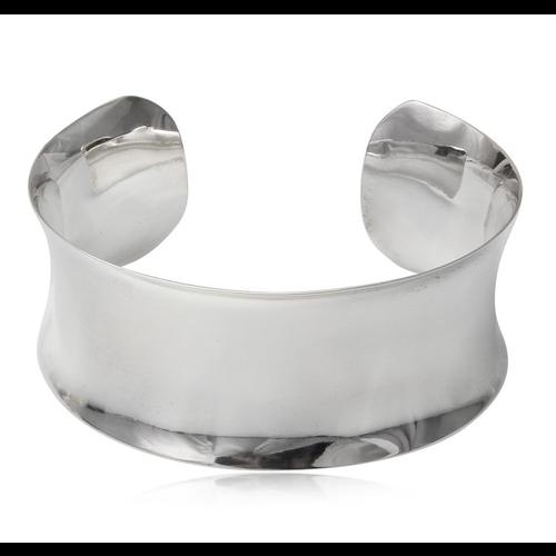 ZilverVoorJou Zilveren 26 mm brede hoogglans klemarmband