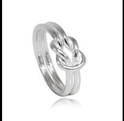 ZilverVoorJou Zilveren knoop infinity ring