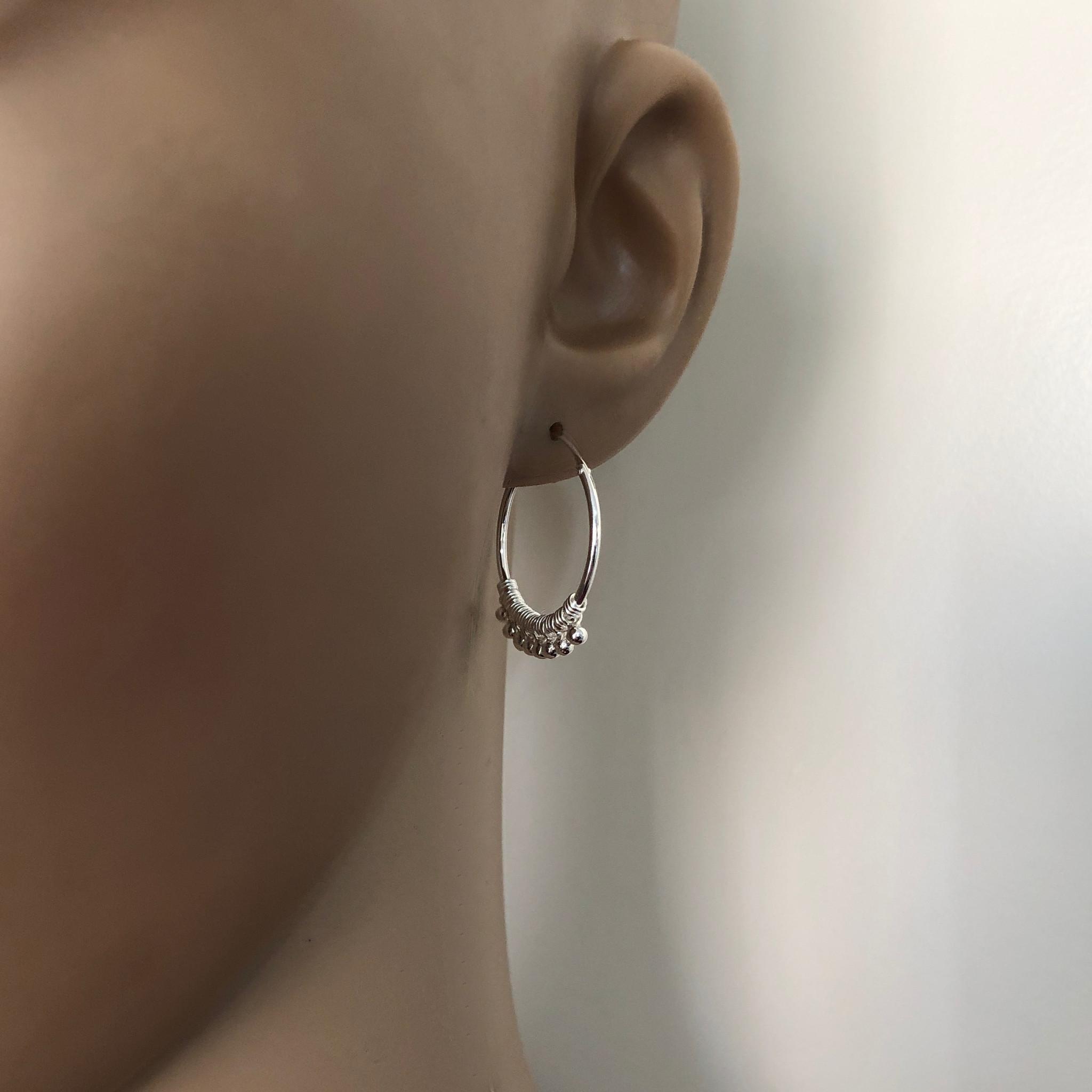 Zilveren bohemian oorringen-4
