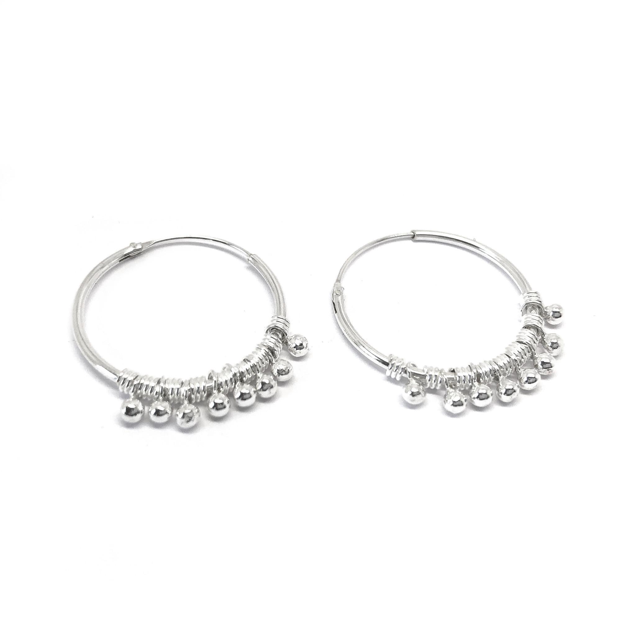 Zilveren bohemian oorringen-5