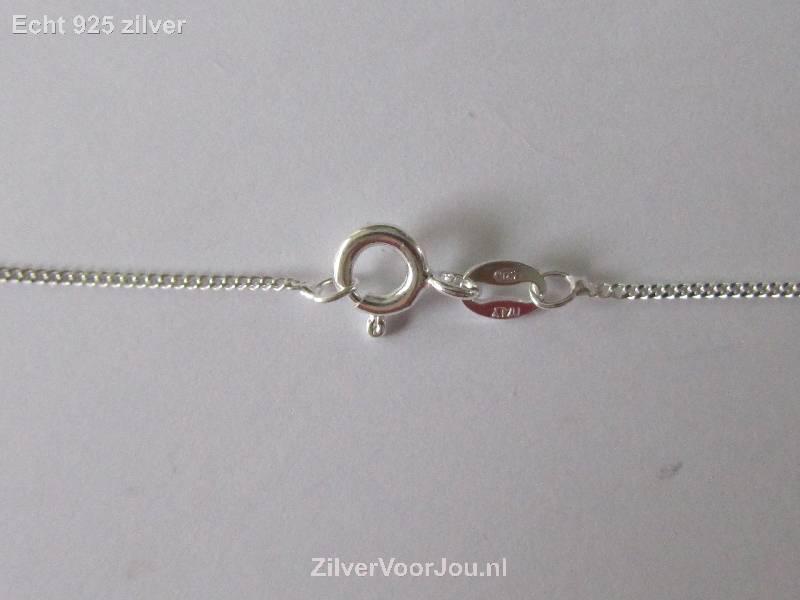 Zilveren fijne gourmet ketting 50 cm 1.1 mm-3