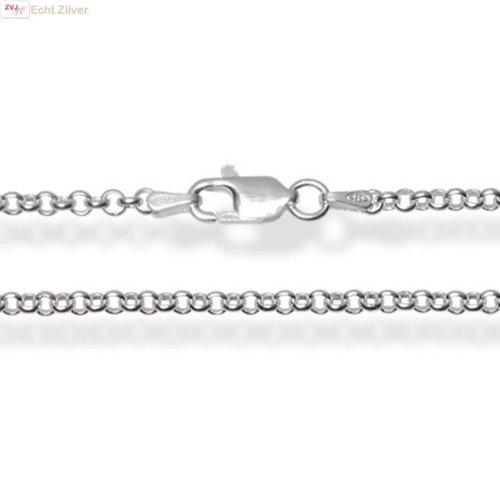 ZilverVoorJou Zilveren rolo jasseron ketting 70 cm