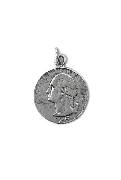 Zilveren Quarter dime dollar munt kettinghanger
