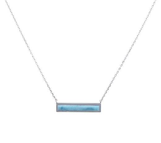 Zilveren sieraad met blauw larimar edelsteen