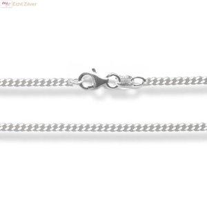 ZilverVoorJou Zilveren gourmet ketting 50 cm 1.5 mm breed