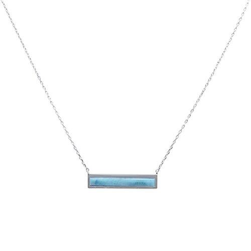 ZilverVoorJou Zilveren design larimar ketting