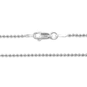 ZilverVoorJou Zilveren bolletjes ketting 50 cm 1,5 mm breed
