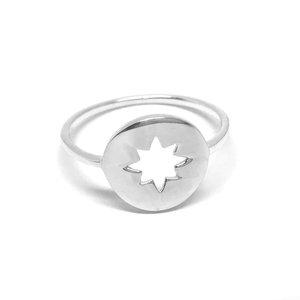 ZilverVoorJou Zilveren ring met open kompas