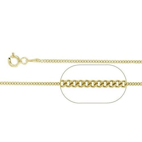 ZilverVoorJou Vermeil goud op zilver gourmet ketting 45 cm 1,5 mm breed