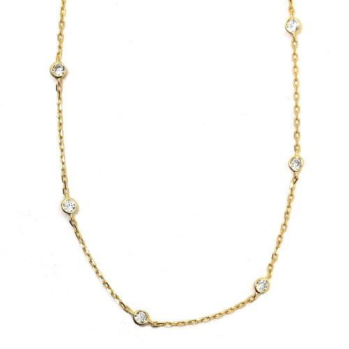 ZilverVoorJou Vermeil diamond by the yard ketting