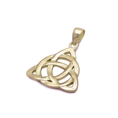 ZilverVoorJou Vermeil geel goud vergulde 925 zilveren Keltische hanger