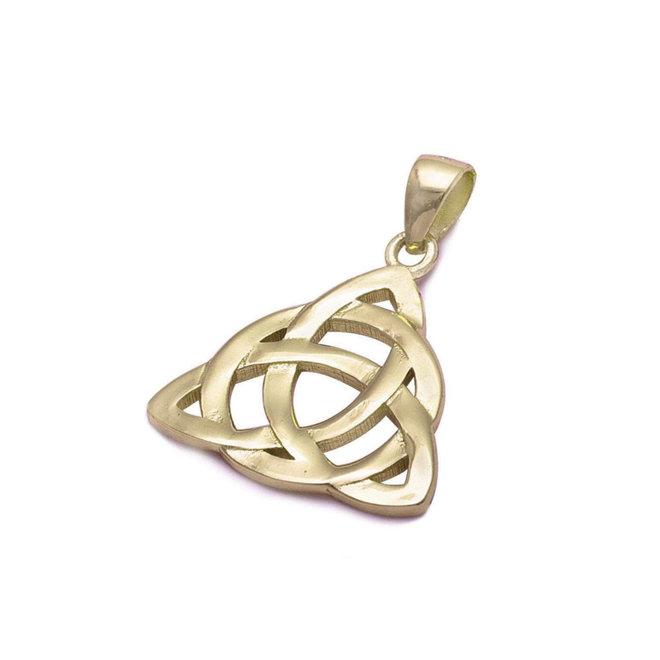 Geel goud vergulde 925 zilveren Keltische hanger