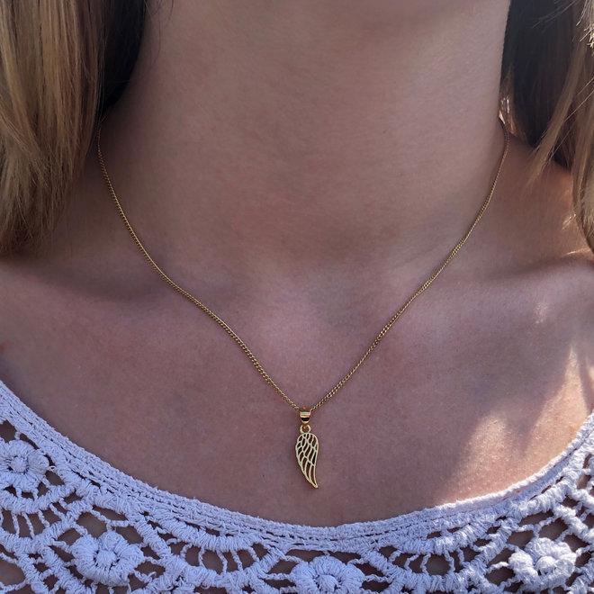 Vermeil geel goud vergulde 925 zilveren angel wing kettinghanger