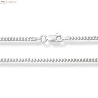 ZilverVoorJou Zilveren gourmet ketting 70 cm lang 2 mm breed