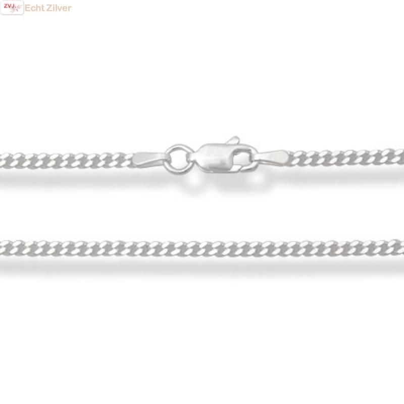 Zilveren gourmet ketting 70 cm lang 2 mm breed-1